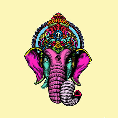 India  Poster by Mark Ashkenazi