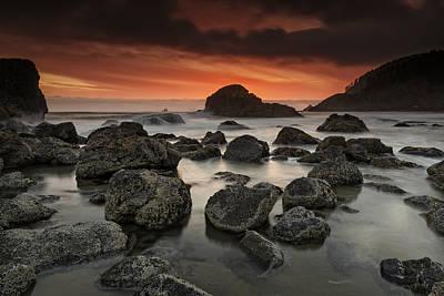 Indian Beach Sunset Poster