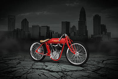 Indian Board Track Racer 1920 City Poster by Aged Pixel