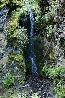 Poster featuring the photograph Indian Canyon Waterfall by Ben Upham III