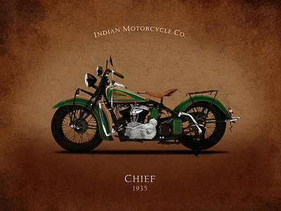Indian Chief 1935 Poster by Mark Rogan