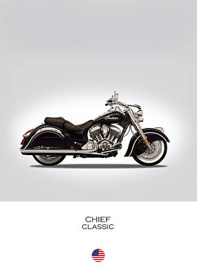 Indian Chief Classic Poster by Mark Rogan