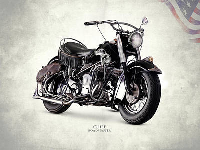 Indian Chief Roadmaster 1953 Poster by Mark Rogan