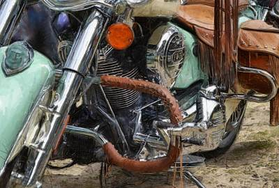 Indian Chief Vintage Ll Poster by Michelle Calkins