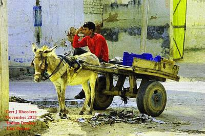 Indian Donkey Cart Owner H A Poster