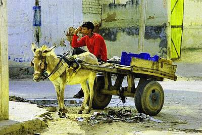 Indian Donkey Cart Owner H B Poster