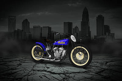 Indian Flat Track Racer 1928 City Poster
