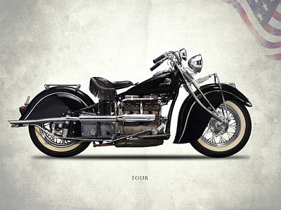 Indian Four 1938 Poster by Mark Rogan