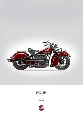 Indian Four 1941 Poster by Mark Rogan