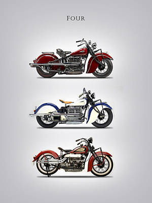 Indian Four Trio Poster by Mark Rogan