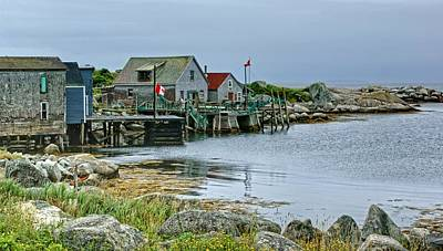 Indian Harbour - Fishing Village - Nova Scotia Poster by Nikolyn McDonald