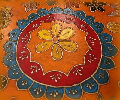 Indian Mandala  Poster by Dora Sofia Caputo Photographic Art and Design