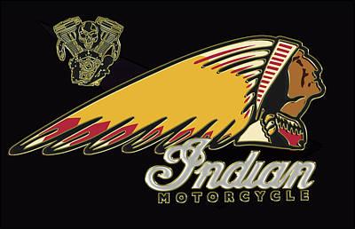 Indian Motorcycle Logo Series 2 Poster