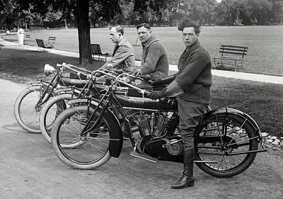Indian Motorcycle Run C. 1920 Poster
