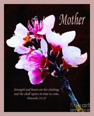 Indian Peach Blossoms - Mother Poster