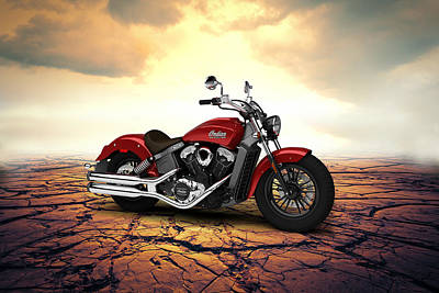 Indian Scout 2015 Desert 02 Poster by Aged Pixel