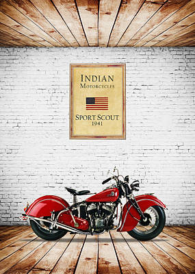 Indian Sport Scout 1941 Poster by Mark Rogan