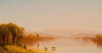 Indian Summer In The White Mountains Poster by Sanford Robinson Gifford