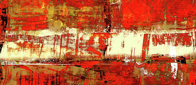 Indian Summer - Red Contemporary Abstract Poster