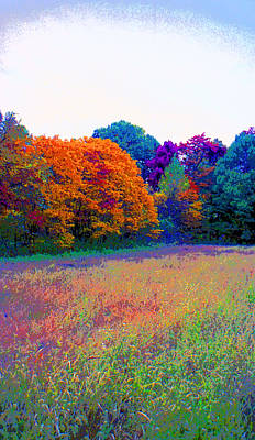 Indiana Autumn Field Image Poster by Paul Price