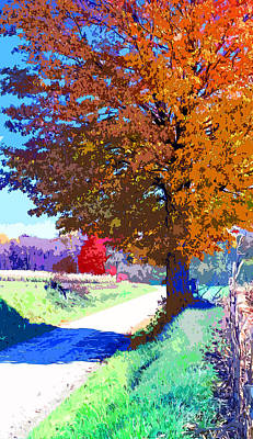 Indiana Country Road Image Poster by Paul Price