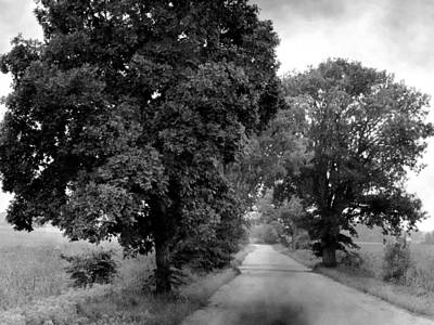 Indiana Road And Trees Poster by Michael L Kimble