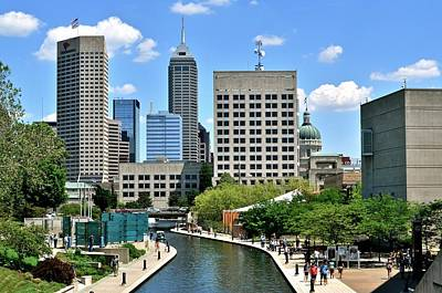 Indianapolis Canal Poster by Frozen in Time Fine Art Photography