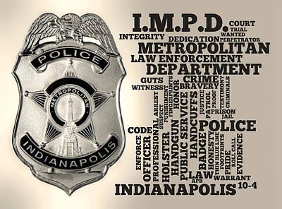 Indianapolis Metropolitan Police Department Silver Poster