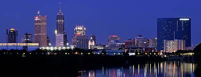 Indianapolis Panorama Poster by Frozen in Time Fine Art Photography