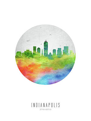 Indianapolis Skyline Usinin20 Poster by Aged Pixel