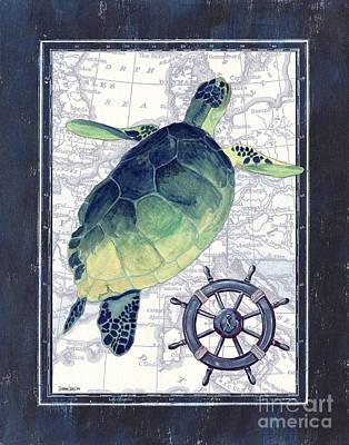 Indigo Maritime 1 Poster by Debbie DeWitt