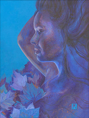 Poster featuring the painting Indigo Serene by Ragen Mendenhall