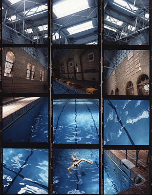 Indoor Pool Poster by Steve Williams