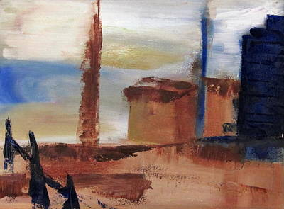 Poster featuring the painting Industrial by Patricia Cleasby