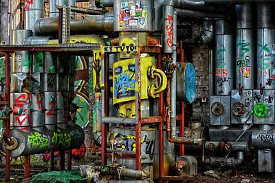 Industrial Steampunk Poster by Joachim G Pinkawa