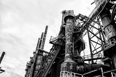 Industrial Steel Stacks - Bethlehem Pa Poster