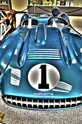 Indy Race Car Museum Corvette Poster by ELITE IMAGE photography By Chad McDermott