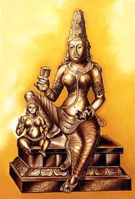 Poster featuring the painting Infinite Love by Ragunath Venkatraman