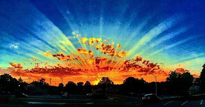 Infinite Rays From An Otherworldly Sunset Poster