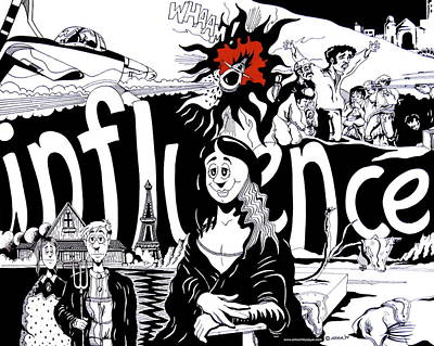 Influence Poster by James Sayer