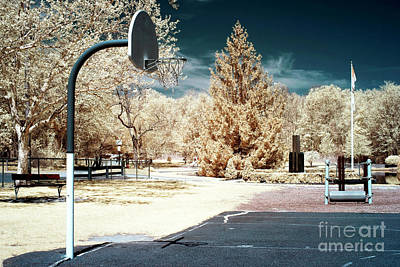 Infrared Basketball Court Poster