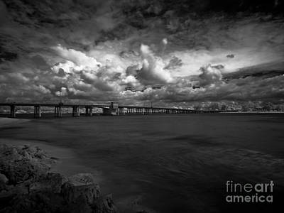 Infrared Longboat Pass Bridge Poster