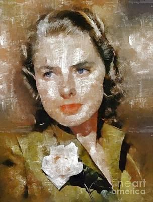 Ingrid Bergman By Mary Bassett Poster