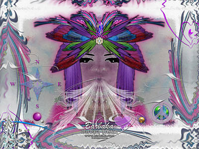 Poster featuring the digital art Inhaling Exhaling Peace by Barbara Tristan