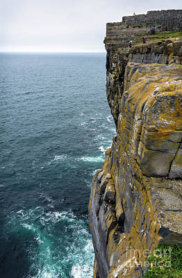 Poster featuring the photograph Inishmore Cliff And Dun Aengus  by RicardMN Photography