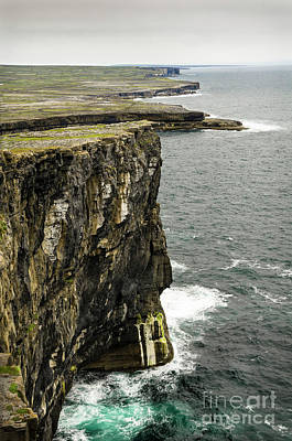 Poster featuring the photograph Inishmore Cliffs And Karst Landscape From Dun Aengus by RicardMN Photography