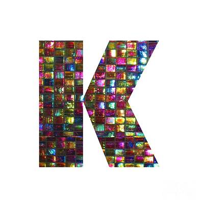 Initial Identity K Kk Kkk Alpha Alphabet Decorations Signature At By Navinjoshi From Canada At Fine Poster by Navin Joshi