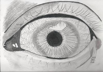 Inky Eye Poster by Sonya Ball