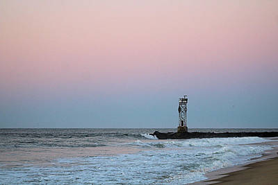 Poster featuring the photograph Inlet Jetty At Dawn by Robert Banach