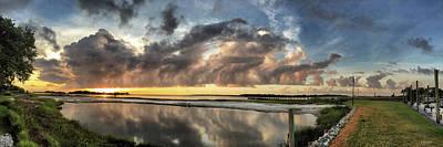 Inlet Sunrise Panorama Poster